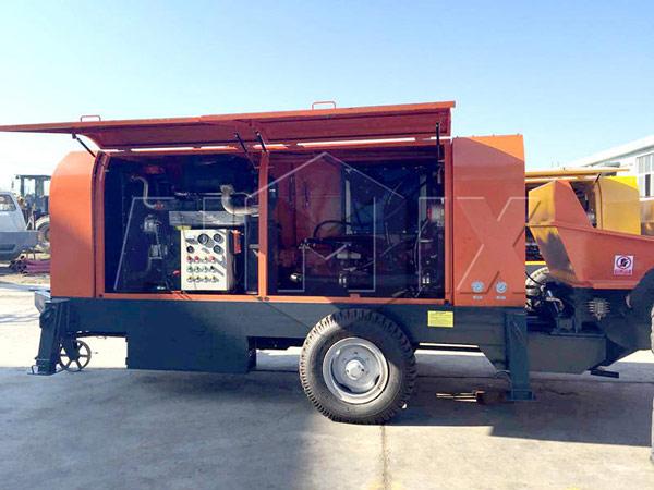 The Structure of AIMIX HBTS80 Diesel Concrete Pumps
