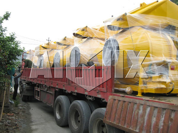 AIMIX Hydraulic Concrete Mixer was Exported to United States