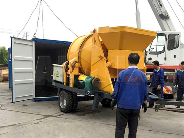 AIMIX ABJZ30D Concrete Mixer with Pump was Exported to Russia