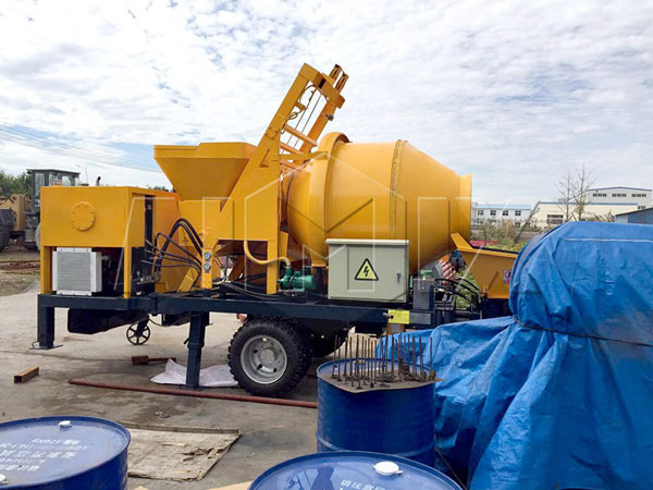 AIMIX JBS30 Electric Concrete Mixer with Pump was Exported to Paraguay