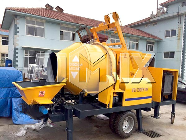 AIMIX JBS30 Electric Concrete Mixer with Pump was Sold to Paraguay
