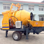 We AIMIX Export Our JBS40 Electric Concrete Mixer with Pump to Pakistan Today