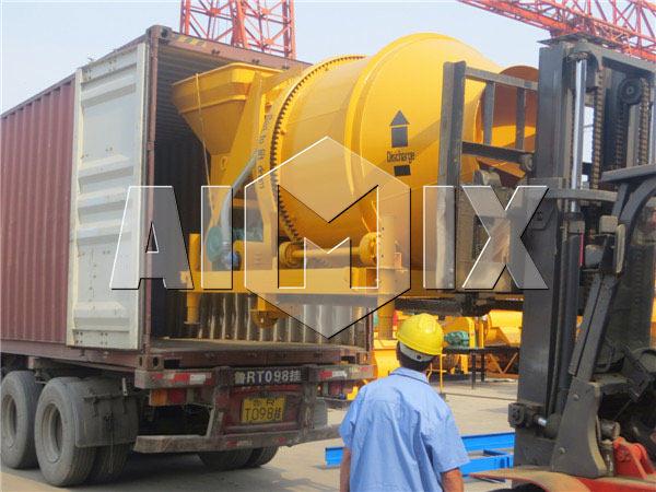AIMIX Large Portable Concrete Mixer was Exported to Australia