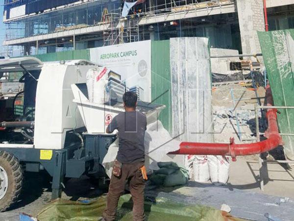 AIMIX Mini Concrete Pump is Exported to Nigeria