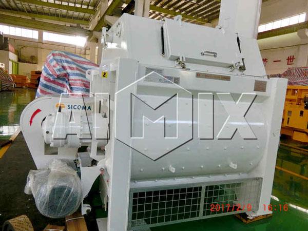 AIMIX SICOMA Misturador de concreto de eixo duplo da planta de dosagem de concreto HZS60 foi enviado para Sri Lanka