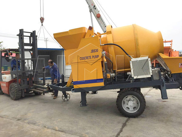 Delivery of AIMIX ABJZ30D Concrete Mixer Pump for Exporting