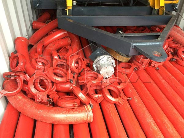 Pipes and Clamps of AIMIX Concrete Mixer Pump for Sale