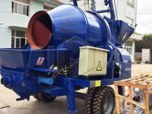 electric concrete pump with mixer
