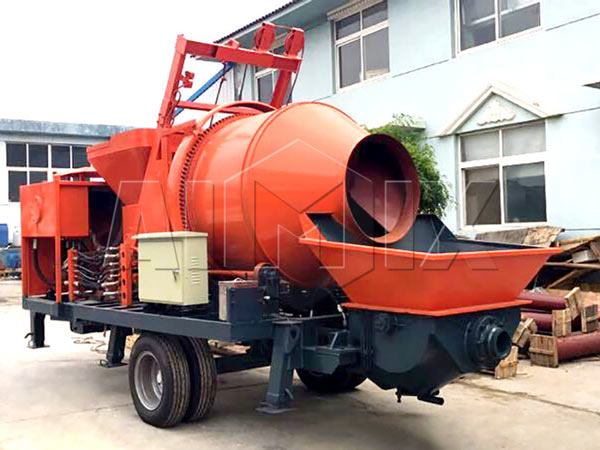 Concrete Plant Loader : Shipment of jb r jzc concrete pump small wheel loader