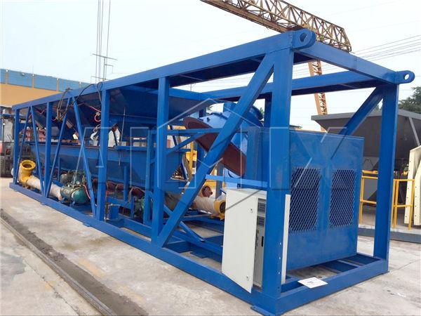 mobile dry mix concrete plant