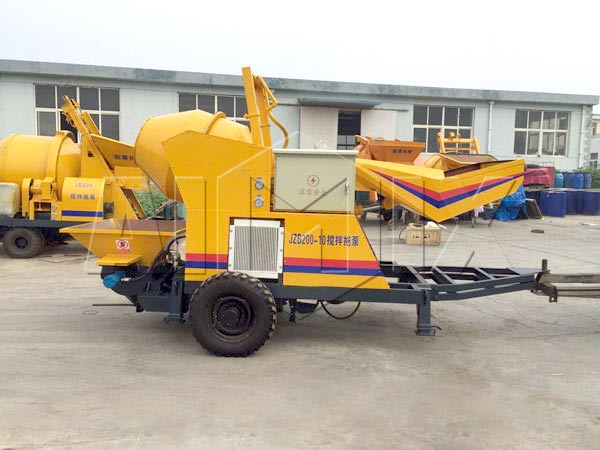 JBS10-JZC200 concrete mixer pump