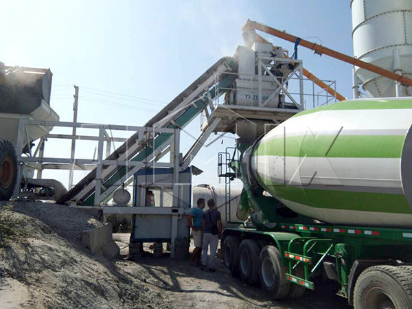YHZS40 mobile concrete batch plant