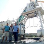 YHZS40 Mobile Concrete Batching Plant In Uzbekistan