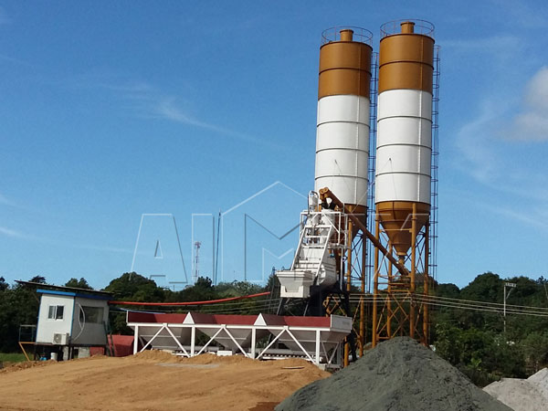 HZS35 mini batching plant
