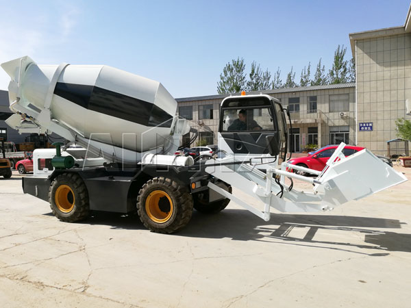 Self Loading Concrete Mixers Load Mix And Discharge At