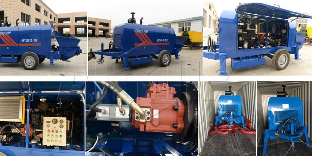 60 portable concrete pump for sale was sent to Philippine