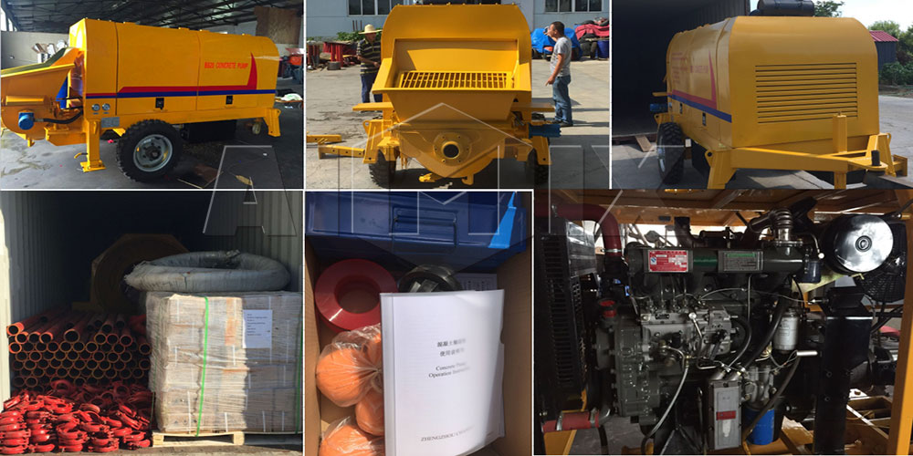 portable concrete pump was going to Cear ong