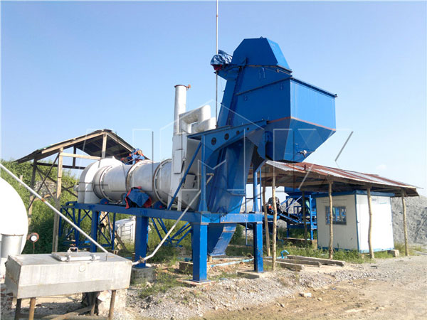 DHB40 drum mix asphalt plant in Burma