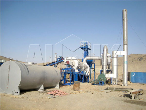 DHB60 mobile drum asphalt batching plant in Afghan
