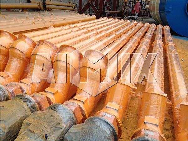 screw conveyor for central mix plant