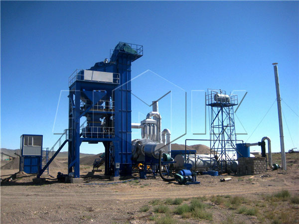 stationary asphalt batch plant in Mongolia