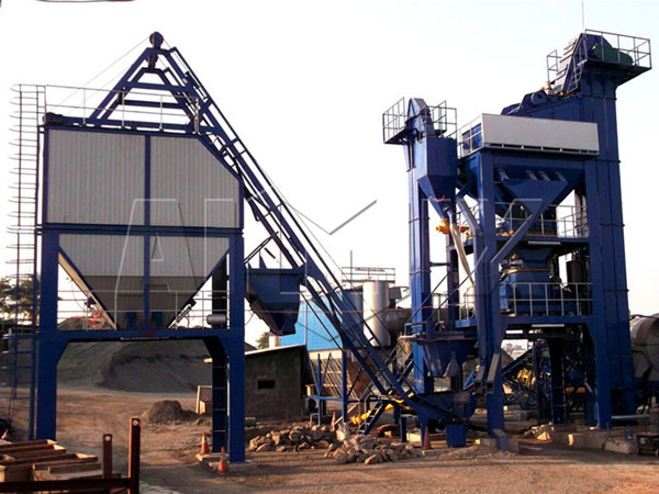 RD105 stationary asphalt plant in Indonesia
