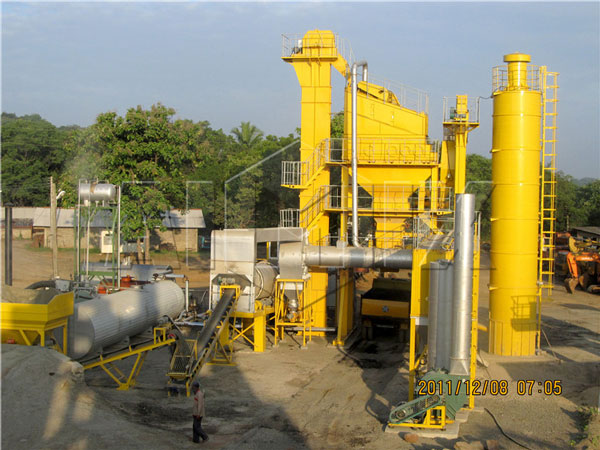 RD90 stationary asphalt batch plant in Sri Lanka