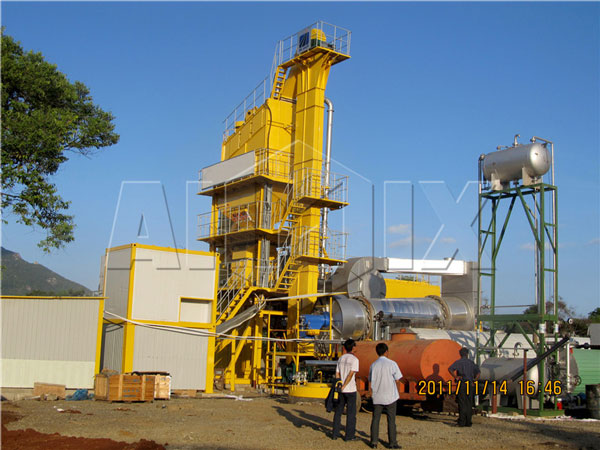 RD90 stationary asphalt mixing plant in Sri Lanka