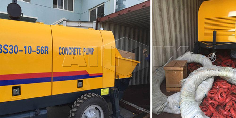 BS30 portable concrete pump was to Singapore