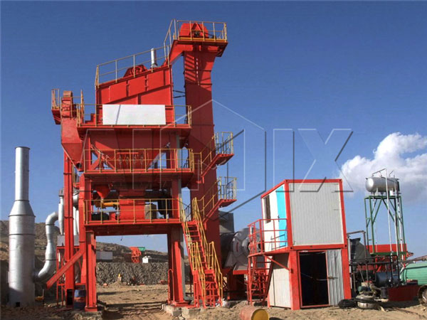Stationary asphalt mixing plant in Saudi Arabia