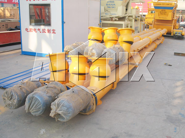 screw conveyor for wet mix plant