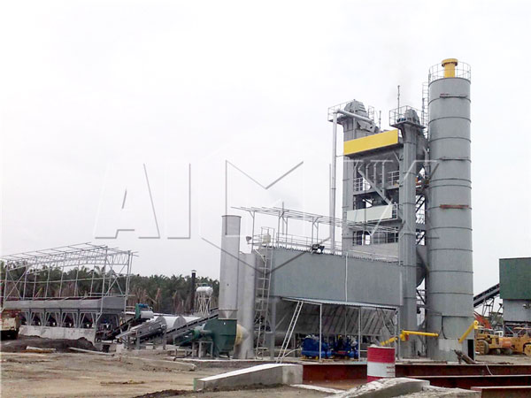 stationary bitumen batching plant