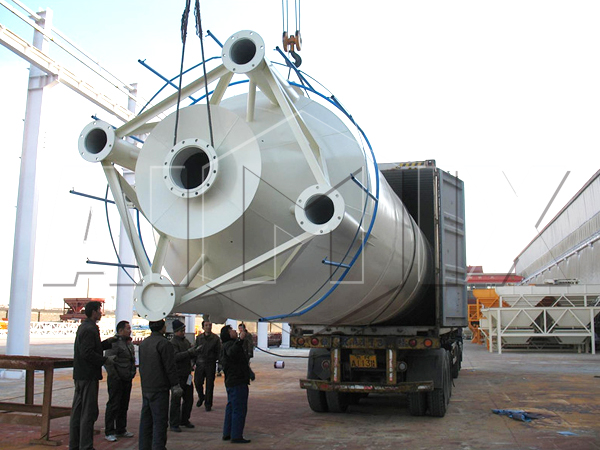 transportation of welded type silo