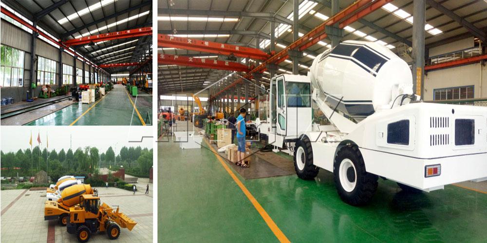 Aimix group self loading concrete mixer truck factory