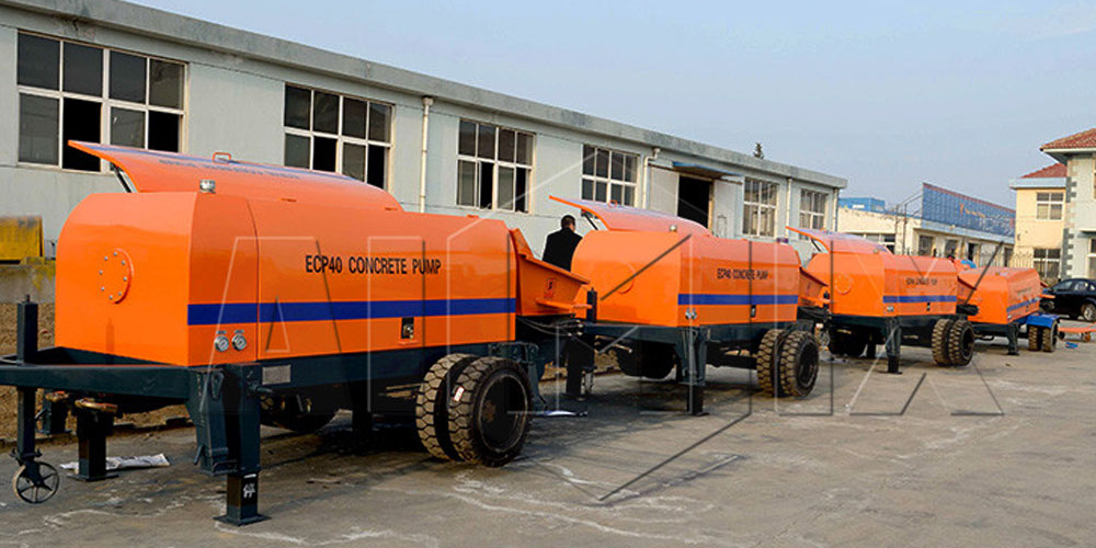 trailer concrete pump company
