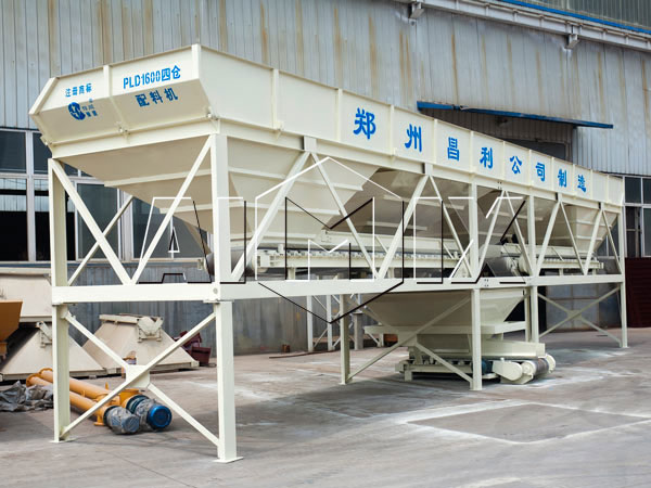 four silos aggregate batching machine