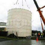 Two Sets 50t Double Cones Bolted Type Cement Silos Was Sent To UK