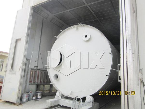 installation of welded type silo