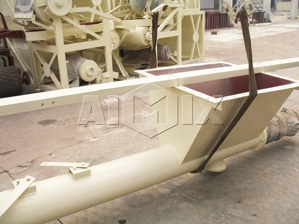 screw conveyor for stabilized soil mixing plant