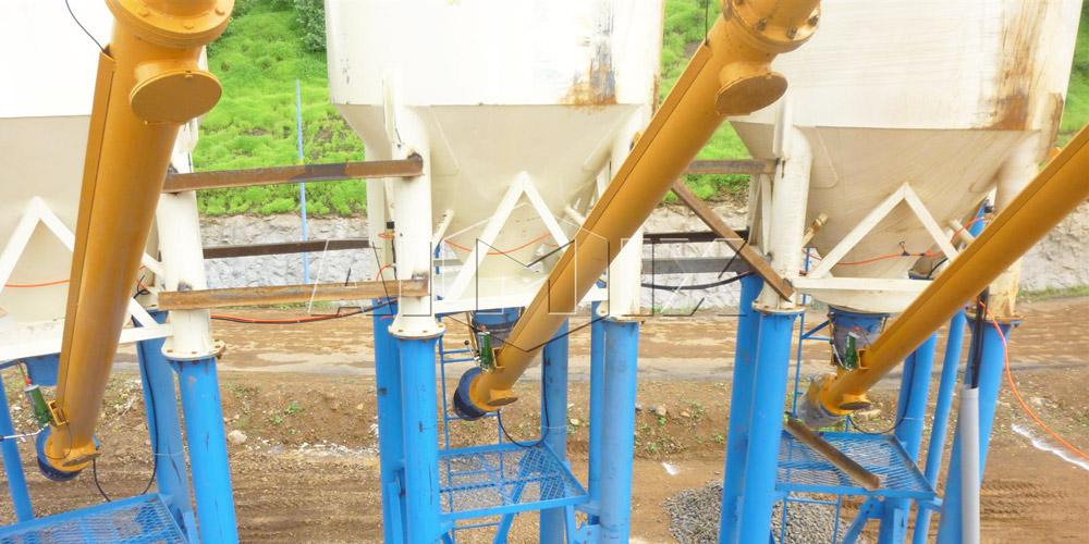 transportador helicoidal em planta de concreto