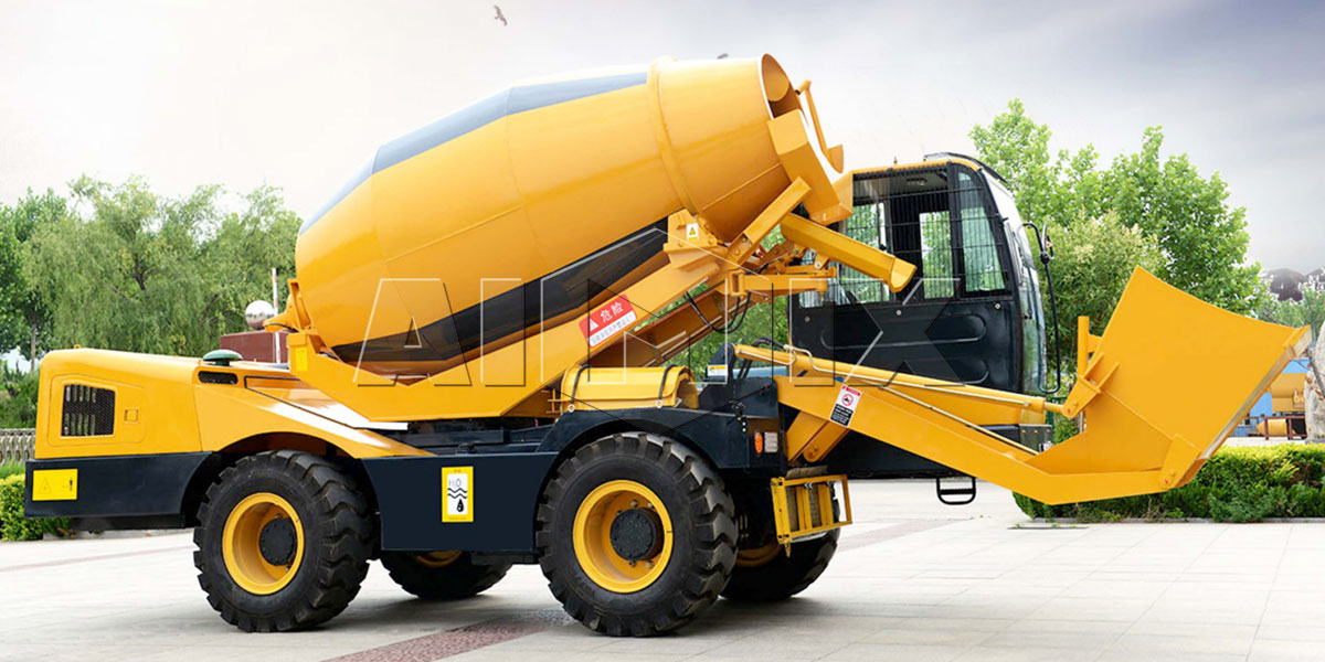 Self Loading Concrete Mixers - Load, Mix And Discharge at 270 degrees