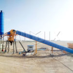 HZS60 Belt Conveyor Type Concrete Batching Plant Was Ready To East Timor