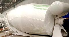 concrete drum adopts Q345 quality steels