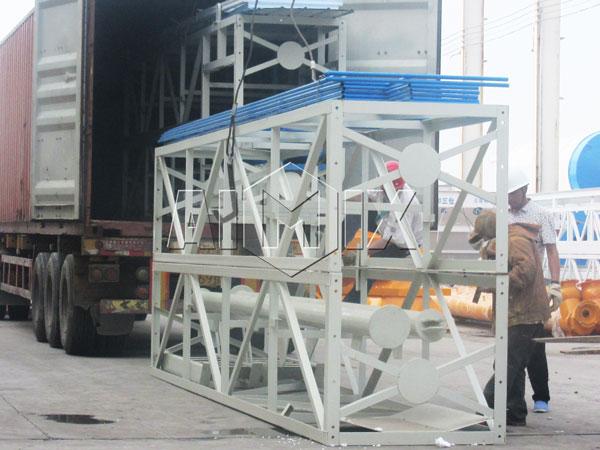 Steel frame of belt conveyor