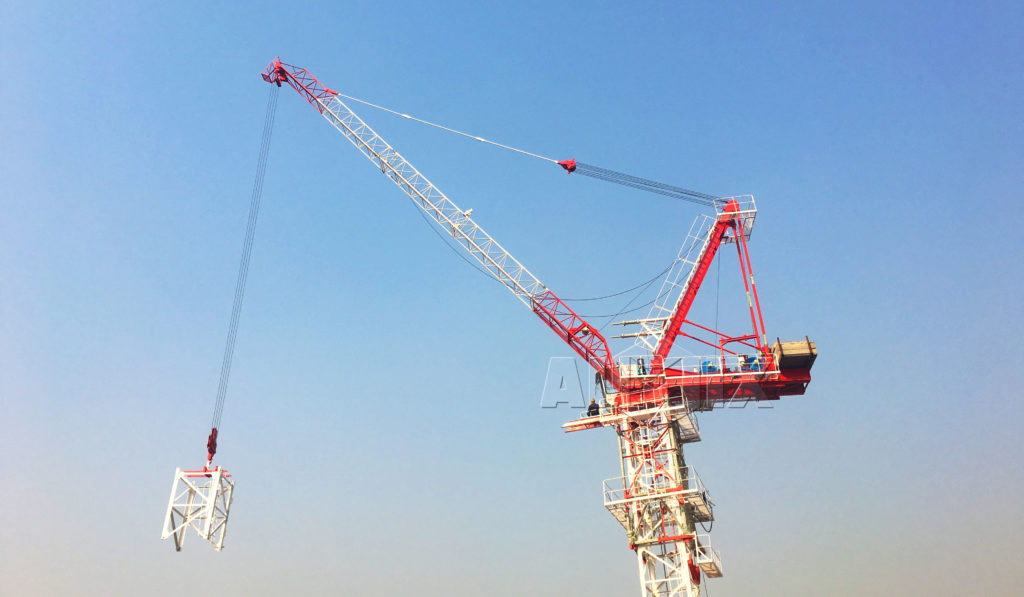 Luffing Jib Tower Crane Flexible Qtz40 Qtz63 Qtz80