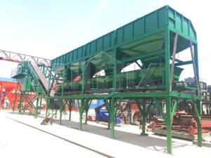 YHZS50 mobile concrete plant