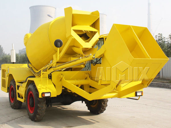 1.2cub self loading concrete mixer