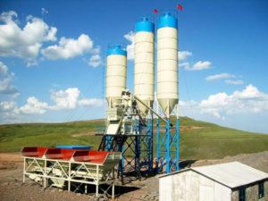 HZS50 concrete batch plant