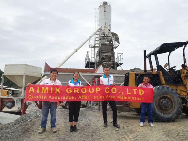 HZS50 stationary concrete batching plant Philippines