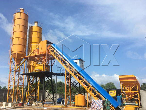 HZS60-stationary concrete batching plant sri lanka